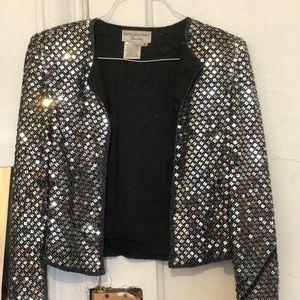 Glittery Silver Blazer